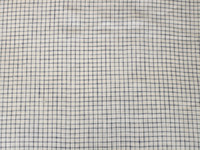 White/Navy Windowpane Linen