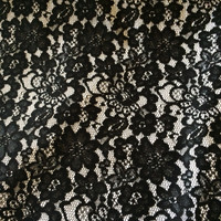 Black Lace with White Backing