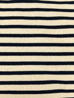 Navy/Tan Pique Knit
