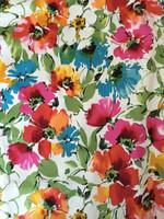 Springtime Floral Stretch Cotton Sateen