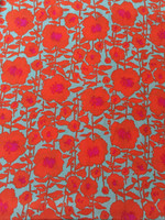 Poppy Flower Silk Crepe de Chine