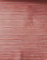 Coral Stripe Stretch Cotton