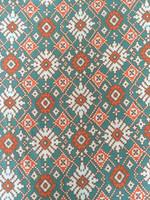 Moroccan Print Rayon Challis-Teal Blue
