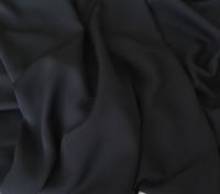 Black Silk Double Georgette