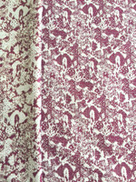 Brocade-Plum/Cream/Gold Metallic