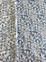 Brocade-French Blue/Cream/Silver Metallic