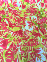 Cherry Limeade Stretch Cotton Sateen