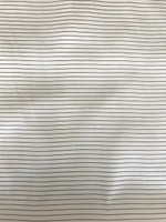 Ivory/Black Pinstripe Stretch Silk Charmeuse