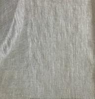 Metallic Silver Linen