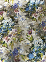 Watercolor Floral Cotton Sateen