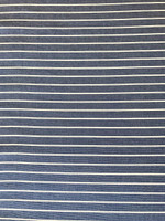 Cobalt Blue/White Stripe Ponte Knit