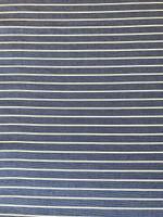 Cobalt Blue/White Stripe Ponte Knit