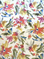 Floral Brushstrokes Silk Charmeuse