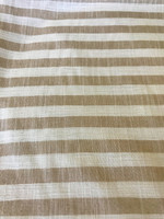 Khaki/Antique White Stripe Cotton Blend