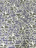 Abstract Palm Tree Sheer Stripe Organza