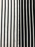 Black/White Reversible Stripe