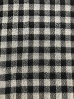Black/Ecru Check Wool Gauze