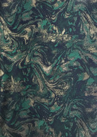 Emerald Green/Sapphire/Gold Lurex Brocade
