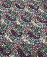 Grape/Teal Paisley Pima Cotton Shirting