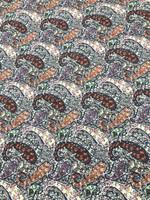 Rust/French Navy Paisley Pima Cotton Shirting