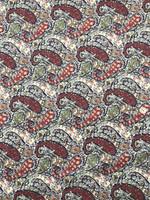 Red/Maize Paisley Pima Cotton Shirting