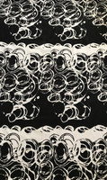 Black/White Hurricane Swirl Stretch Cotton