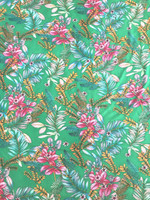 Island Tropical Print Rayon Poplin-Kelly Green
