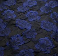 Black/Sapphire Rose Taffeta
