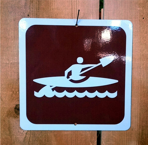 Kayaking Recreation Symbol Sign