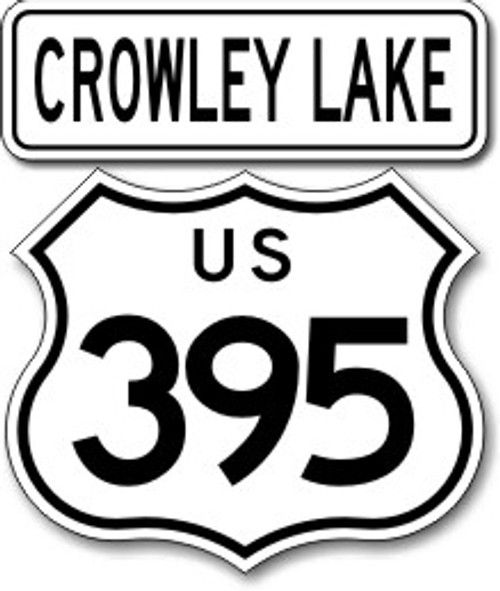 395 Crowley Lake Sticker