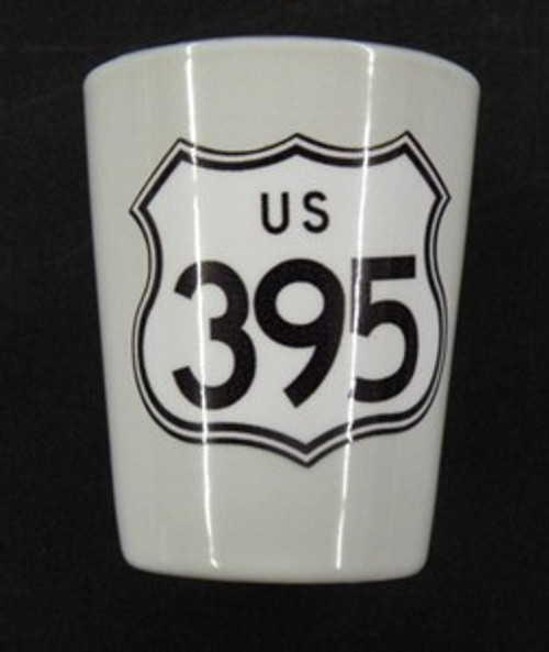 US 395 Shot Glass