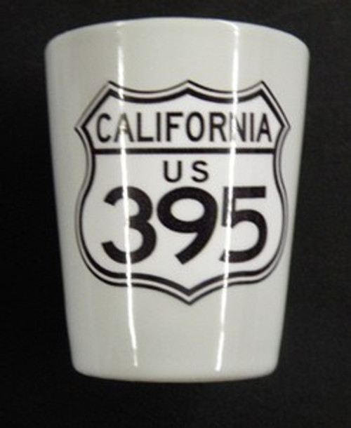 California 395 Shot Glass