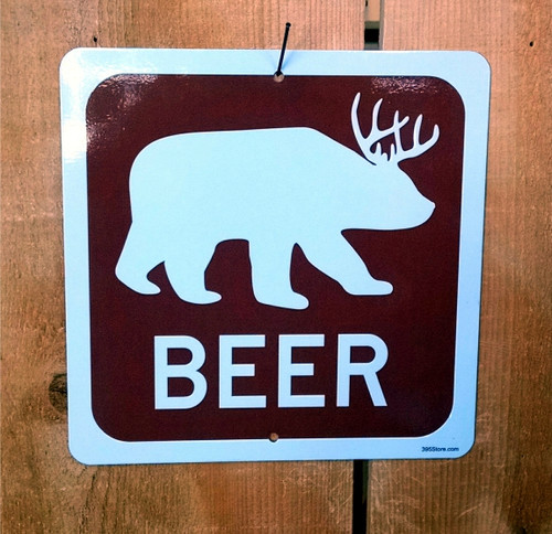 Beer Bear Recreation Sign