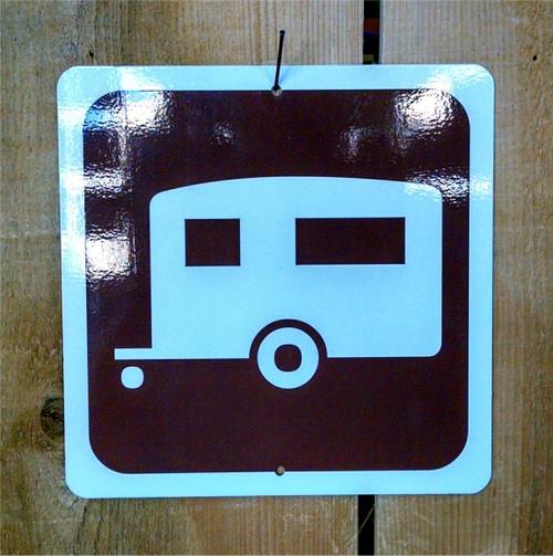 Camping Trailer Symbol Sign