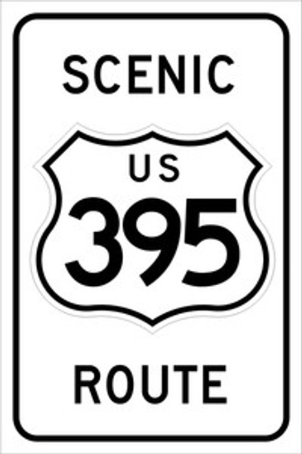 395 Scenic Route Sign