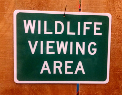 Wildlife Viewing Area Sign