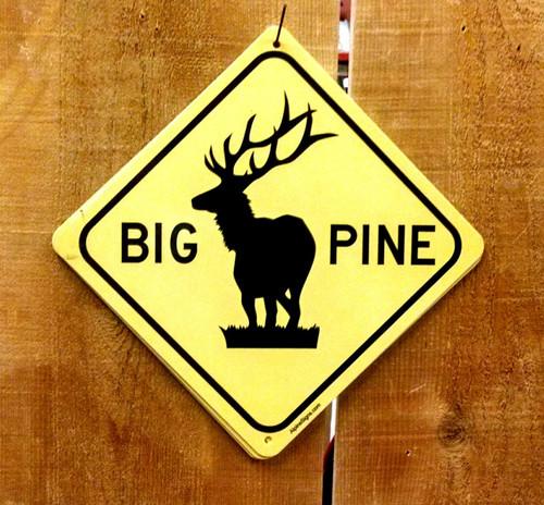 Big Pine Elk Crossing Sign