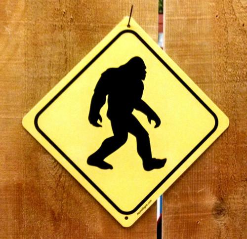 Big Foot Sasquatch Crossing Sign