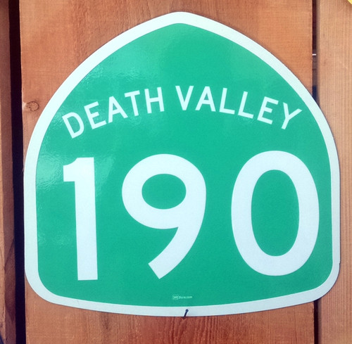 Highway 190 Death Valley Sign
