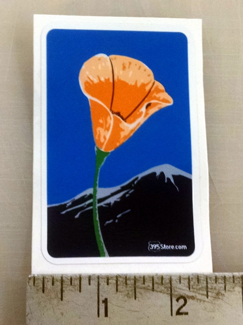 California Scenic Byway Poppy Sticker