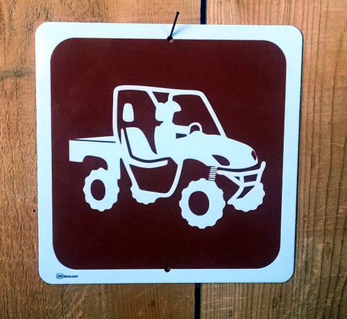 ATV Side by Side Quad Riding Recreation Symbol Sign