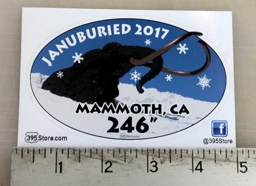 Januburied 2017 Mammoth Mountain Oval Sticker