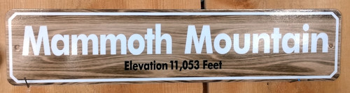 Mammoth Mountain Sign