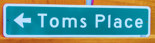 Tom's Place Road Sign