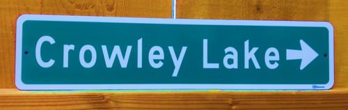 Crowley Lake Road Sign