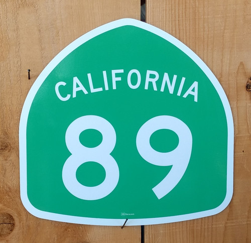 California Highway 89 Sign