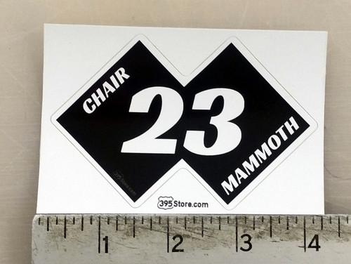 Mammoth Chair 23 Snow Ski Sticker