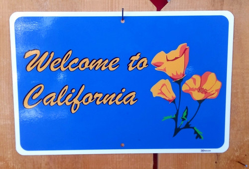 Welcome to California Scenic sign