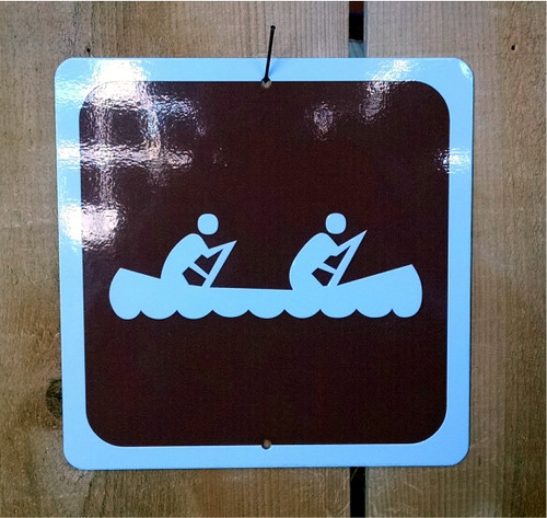 Canoe Recreation Symbol Sign
