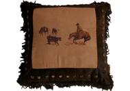 Cutting Horse Pillow